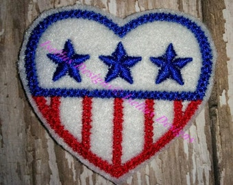 4th Of July Heart Felties