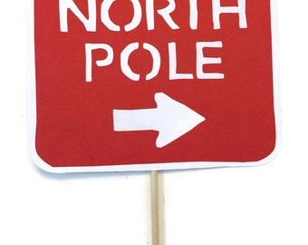 Christmas Photo Booth Props-  Holiday Photo Booth  - North Pole Sign