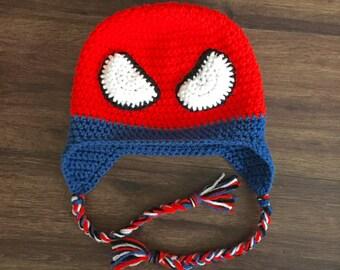 Crochet Spider Hero Hat