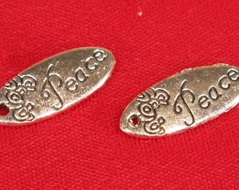 """BULK! 30pc """"piece plate"""" charms in antique silver style (BC928B)"""