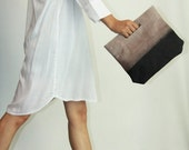 Ombre leather clutch - Evening bag - Lucy clutch