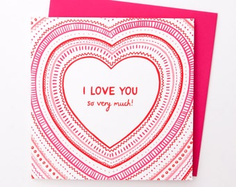 A Bright 'I Love You Very Much' Card