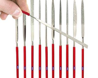 140mm Diamond Needle File Set 10 Pcs Jewelry Filing Glass Metals Mold Making Wa 301-041