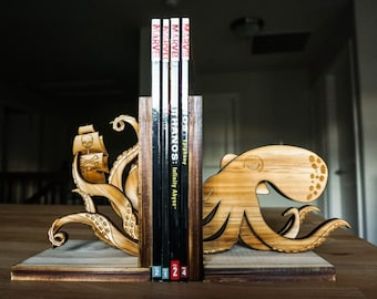 Kraken Bookends, Octopus, Pirate, Book Ends