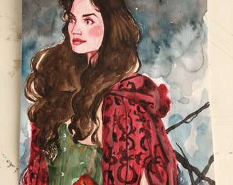 Ruby | Once Upon a Time | Original Watercolour Painting