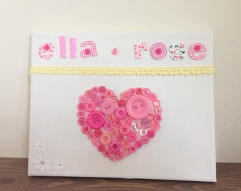 New Baby/1st Birthday Canvas Gift
