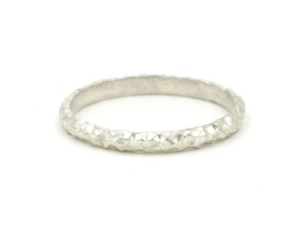 Textured Silver Stacking Ring