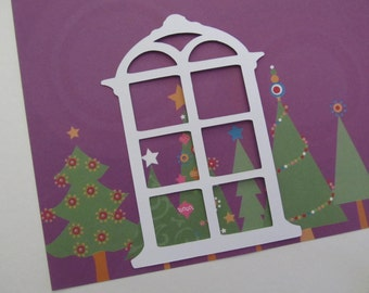 Six-Pane Window Diecuts for Christmas Scrapbooking, Cardmaking & Other Paper Crafts, etc