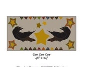"""Caw Caw Caw ~ 48"""" x 24"""" Paper Pattern for HOOKED RUG by The Art Tramp/HOOKER Collection"""