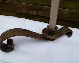 Candle holder in hand or to ask burner vintage hand made cast