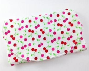 Burp Cloths Burp Cloths Girl Baby Girl Burp Cloth Baby Burp Clothes Baby Burp Cloth Burp Rags Cherries
