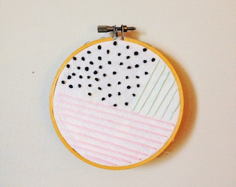 Graphic Art - Embroidery Hoop (Inspired by designlovefest)