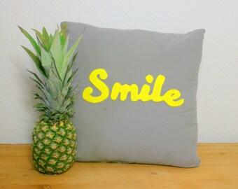 "Applique 'Smile' Cushion 16"" x16"""