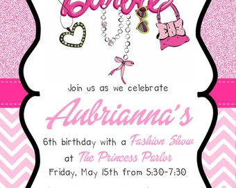 Barbie Fashion Invitation