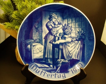 Bareuther Porcelain 1979 Muttertag Collector's Plate – Bavaria German