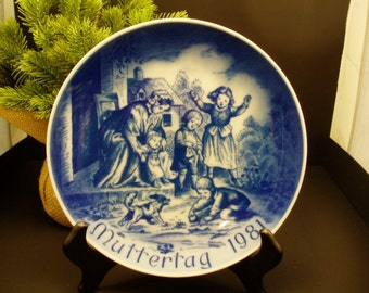 Bareuther Porcelain 1981 Muttertag Collector's Plate – Bavaria German