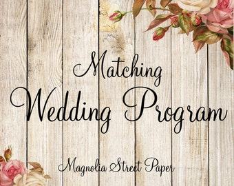 Printable Coordinating Program to Match Your Invitation