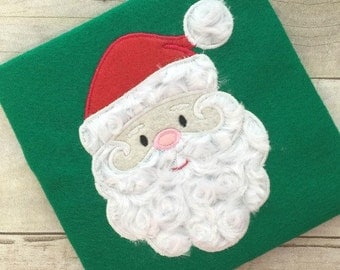 Santa Applique - Santa Embroidery - Christmas Applique - Christmas Embroidery - Holiday Applique - Holiday Embroidery