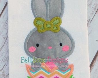 Bunny Applique Design - Rabbit Applique Design - Egg Applique Design - Easter Applique Design - Spring Applique Design - Applique Design