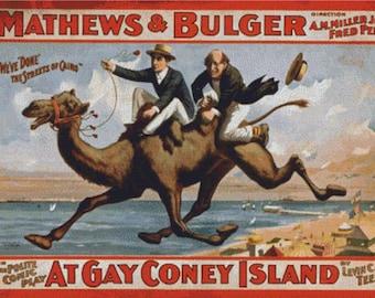 Coney Island Poster PDF Cross Stitch Pattern