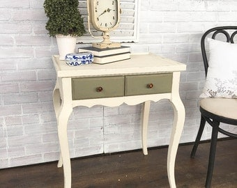 SALE: Off-White Painted End Table