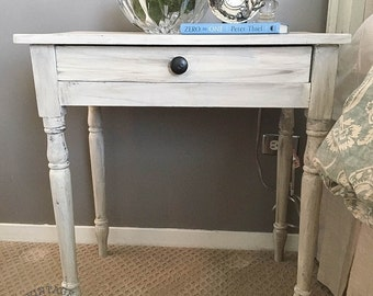AVAILABLE: Cream & Gray Painted Nightstand