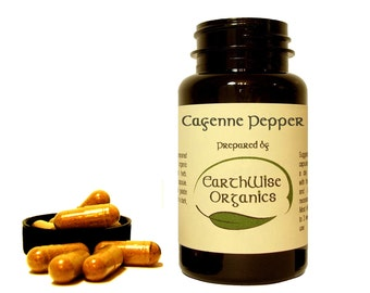 Cayenne Pepper Capsules 350 mg Herbalist Prepared From Certified Organic Herbs 35000 HU