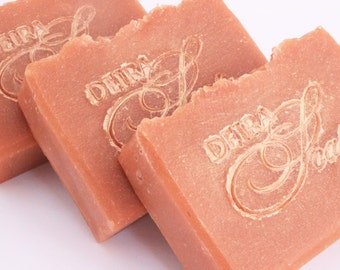 natural soap Peach and camomile on the goat milk
