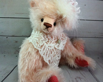 Artist Teddy Bear, OOAK Teddy Bear, Tulip Bears, Handmade Bear, Mohair Teddy Bear, Artist Bear, Collectors Teddy, Collectible Bear, Teddy