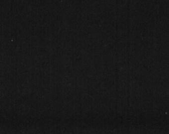 Flannel Fabric - Black Solid - 1 yard - 100% Cotton Flannel