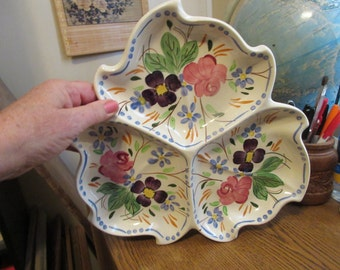 """Blue Ridge """"Martha"""" 12"""" Snack Tray for Condiments and Party Food"""