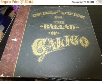 Save 25% Today Vintage 1972 Vinyl LP Record The Ballad of Calico Kenny Rogers and the First Edition