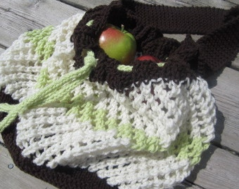 Knitted bag, market bag, beach bag