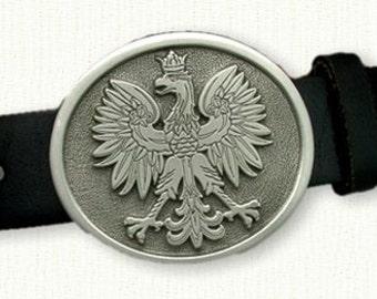 Polish Eagle Belt Buckle - Pewter - Cool Gift Idea