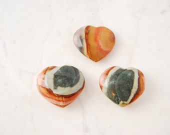 Polychrome Jasper Heart Crystal // Stones for Dream Recall, Aura Clearing, Purity, and Inner Peace