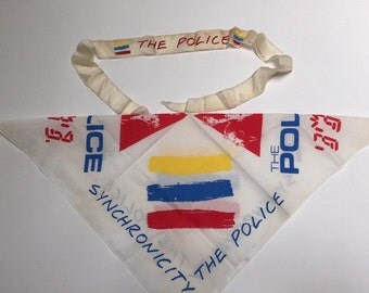THE POLICE concert tour Synchronicity bandana Scarf  and  Headband 1984