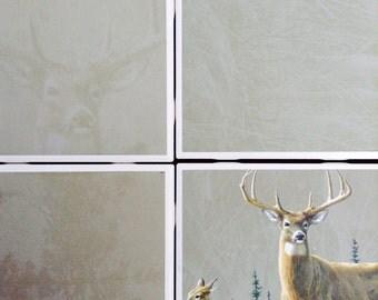 Deers, Hunting Tile Coasters