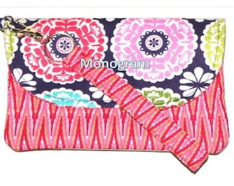 Sooo Handy Wristlet Monogrammed Wallet Cell Phone Holder