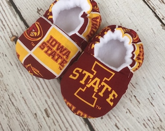 Iowa State cyclones baby/toddler slippers