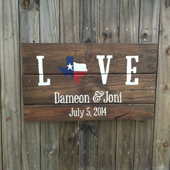 Wooden Texas Recycled Pallet Sign By Rusticrestyle On Etsy: Texas Flag Love Pallet Sign Texas Decor Gift For By