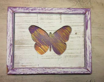 SALE....Wooden Butterfly Wall Art