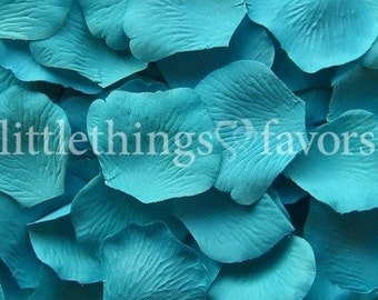 Ocean Blue Rose Petals, Blue Silk Rose Petals, Fake Rose Petals, DIY rose petal aisle runner, flower girl petals, wedding petals, toss