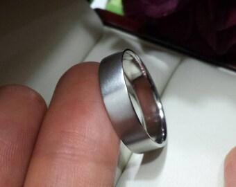 950 Platinum Wedding Band 1mm 2mm 3mm 4mm 5mm 6mm 7mm 8mm Hammered Comfort Fit Matte