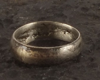 Medieval Jewelry, Ancient Viking Ring, Medieval Wedding Band, Medieval Wedding ring, Viking Jewellry C.850-1100 A.D. Size 7 1/4  (nw108)