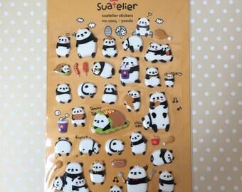 Chubby Panda Puffy Sticker Sheet