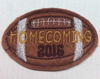 2 Inch Homecoming 2016 Football Feltie- In The Hoop - DIGITAL Embroidery Design