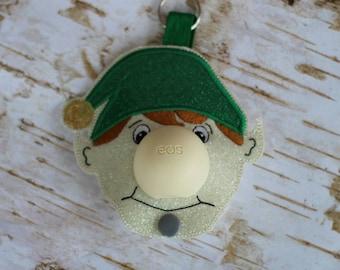 5 x 7 ONLY ITH Elf Sphere/Egg Lip Balm Holder - Lip Gloss - Christmas - Stocking Stuffer - Design - DIGITAL Embroidery Design