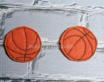 "1.5"" Basketball -  Sports - Felties - In The Hoop - DIGITAL Embroidery Design"