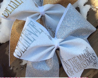 BELIEVE in the Magic of Christmas Bow