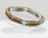 Hazelwood Teen or Adult Double Bracelet Aventurine & Bronze natural therapeutic